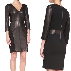 NWOT Diane Von Furstenberg leather black dress 4